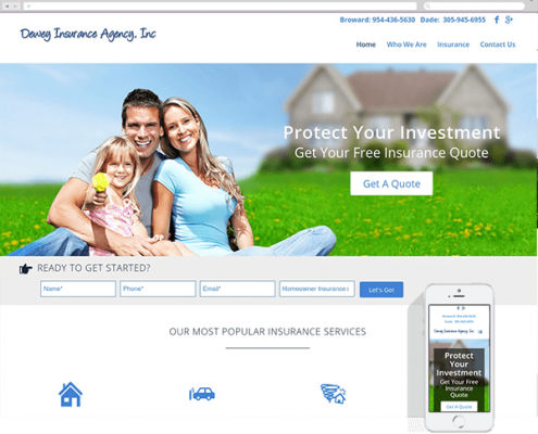 Dewey Insurance Website